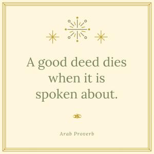 good deed dies